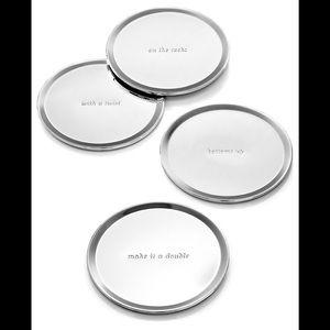 Kate Spade & Lenox silver plate coasters, NEW